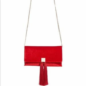 🆕 Ted Baker Carly Red Tassel Clutch